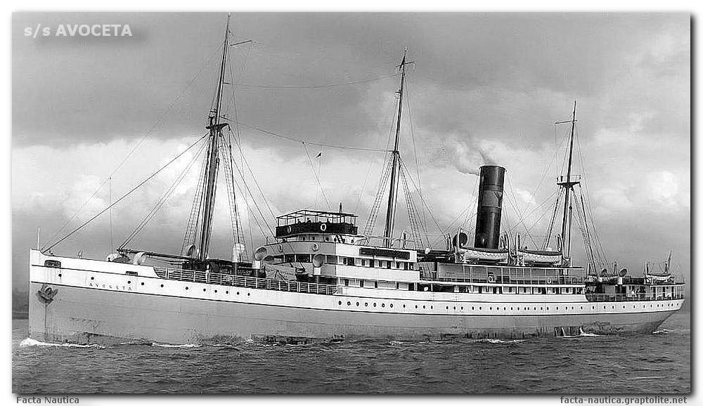 The British passanger steamer SS AVOCETA (Yeoward Line)