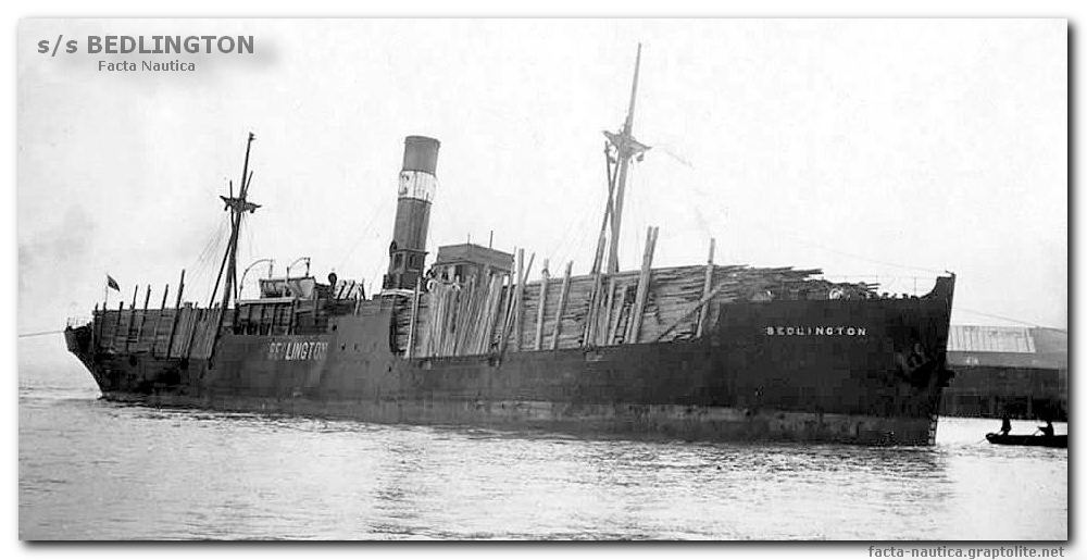 British cargo vessel s/s BEDLINGTON (ex FORESTHILL).