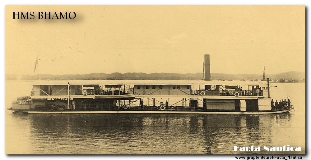 Facta Nautica: The British river gunboat HMS BHAMO.