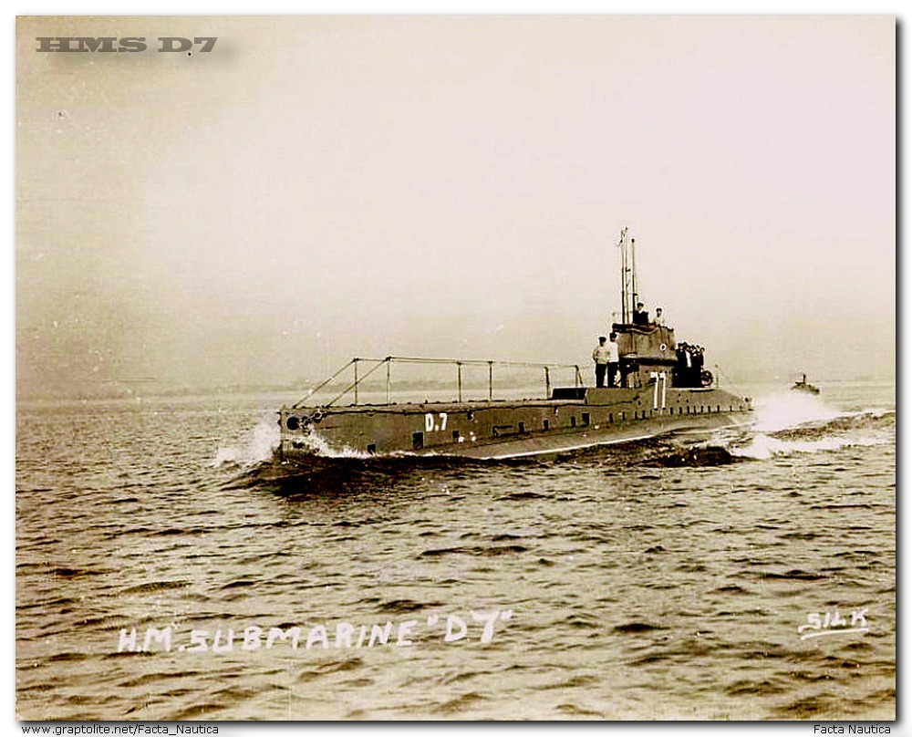 British submarine HMS D7