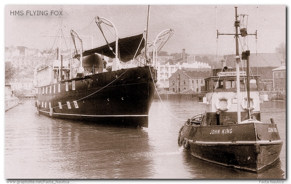 HMS FLYING FOX. TUG JOHN KING.