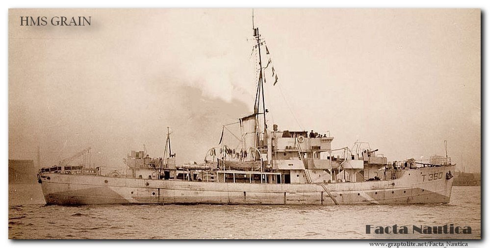 Facta Nautica - Ships and Wrecks: The British minesweeper HMS Grain.