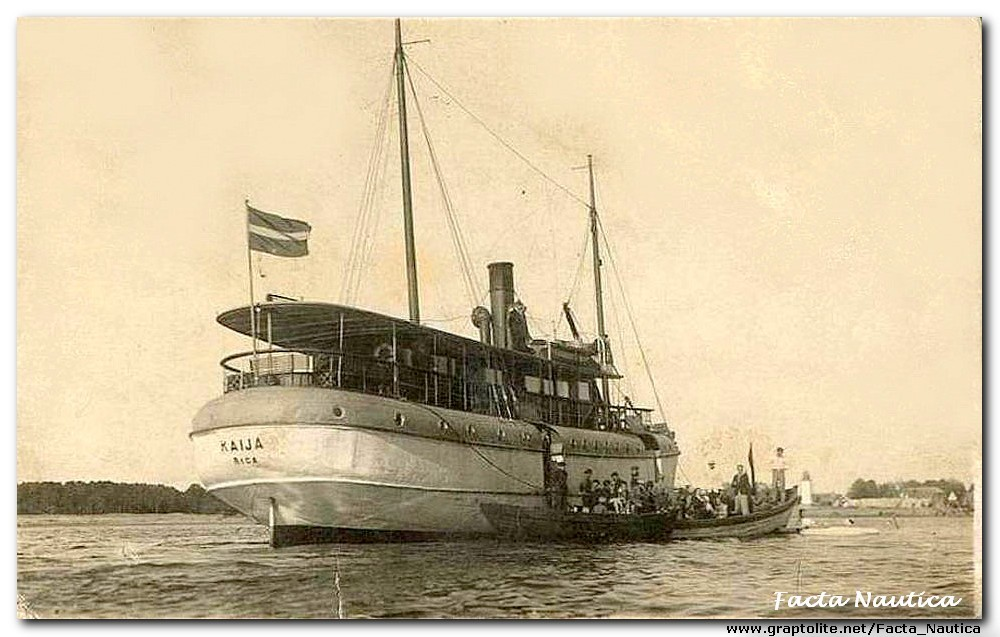 The Latvian steamer KAIJA.