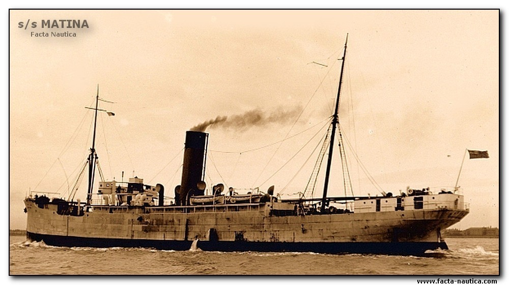 British freighter SS MATINA. Completed 1929. Yard: Cammell Llaird & Co Birkenhead