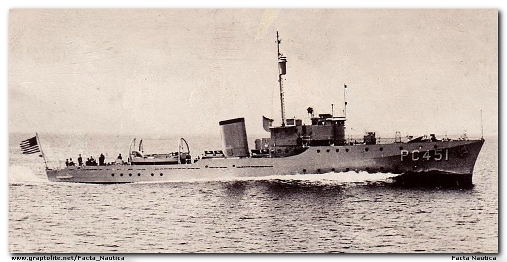 USS PC-451 Submarine chaser, WWII