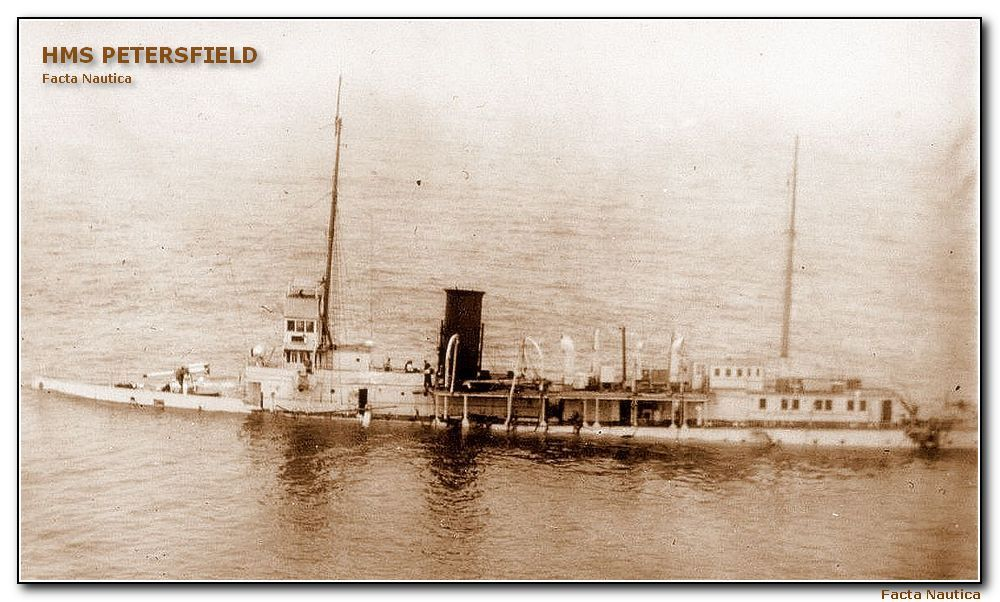 Wreck. Ninesweeper HMS PETERSFIELD. Tra�owiec Jacht admiralski.