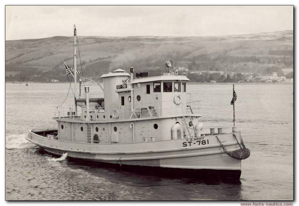 US Army small tug ST-781. Normandy.