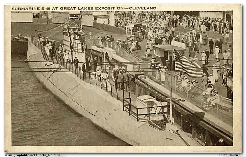 Great Lakes Exposition: Submarine ex USS S-49 (SS 160).