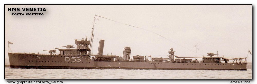 British destroyer HMS VENETIA.