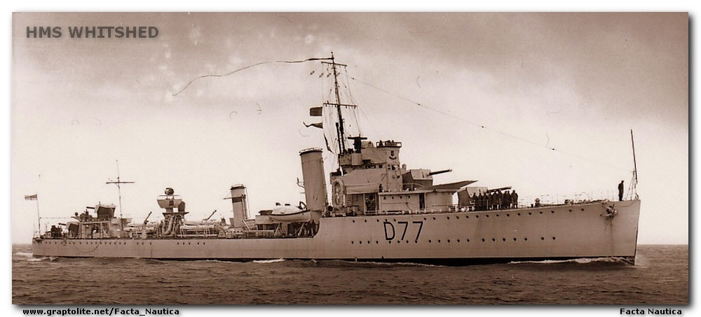 HMS WHITSHED, destroyer