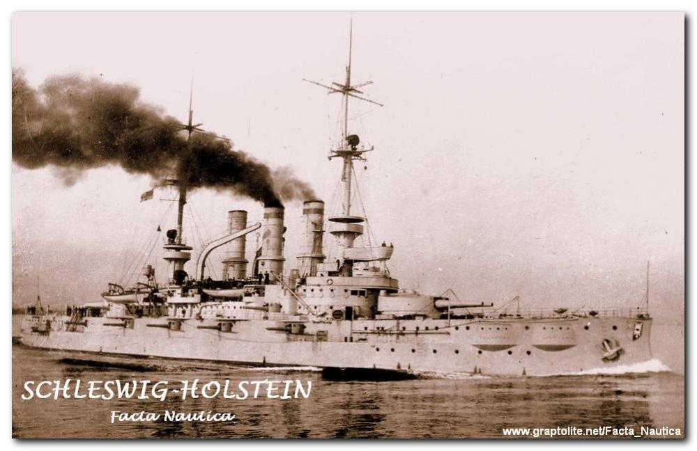 The German battleship SCHLESWIG-HOLSTEIN.